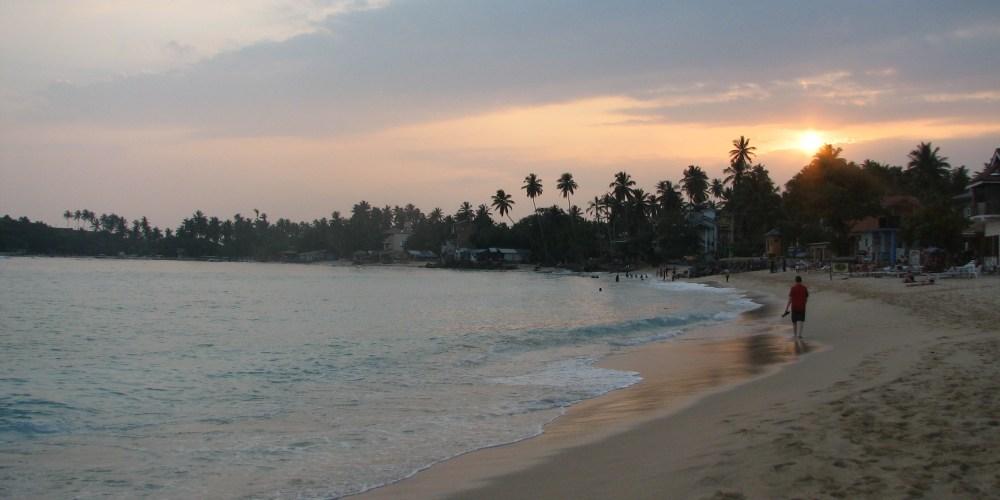 A Sunset walk at the Unawatuna beach